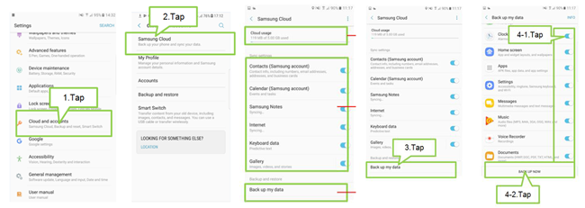 Backup Samsung Data with Samsung Cloud