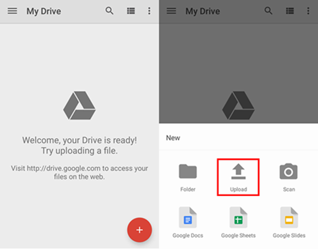 backup android data med Google Drive