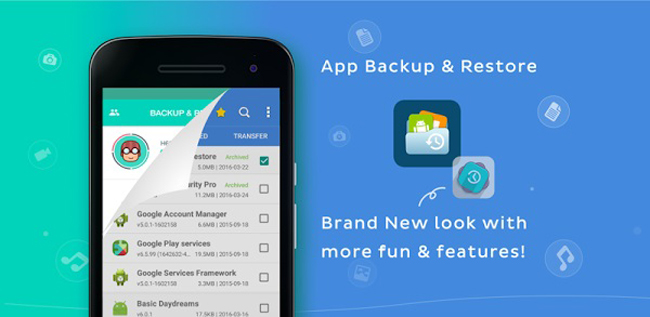 Back-up en herstel van apps