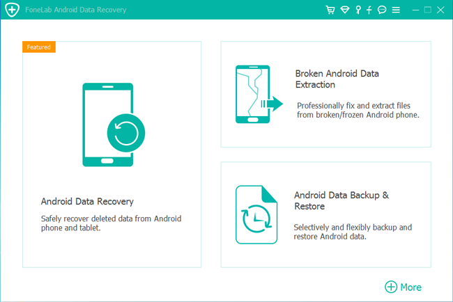 välj android data recovery