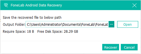 choose recoverable data folder