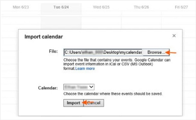 export samsung calendar google account