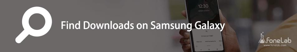 trouver des téléchargements sur samsung