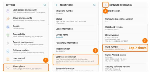 Jak povolit ladění USB na Samsung