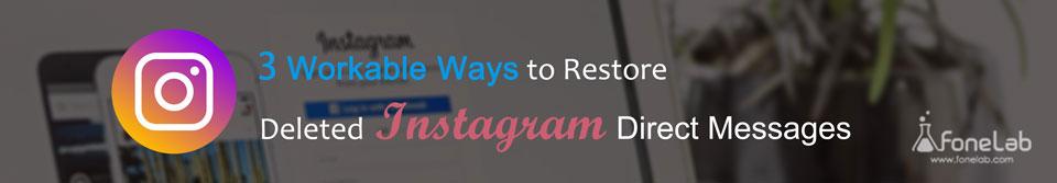 Ανάκτηση μηνυμάτων instagram