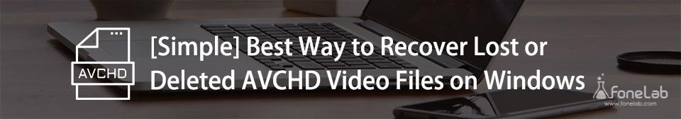 récupération de fichier vidéo avchd