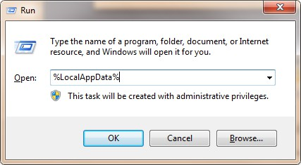 backup browsing history open run dialog