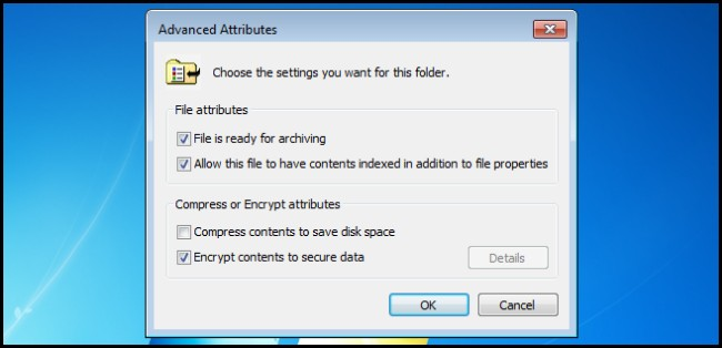 check if the folder is encrypted