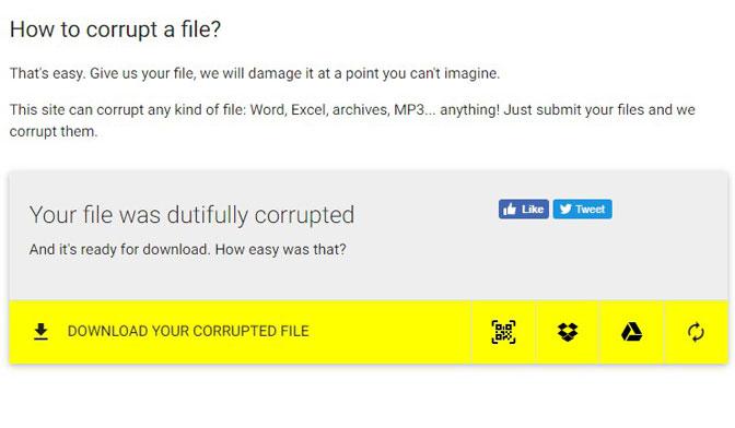 download korrupt fil