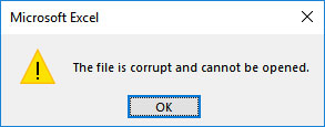 Open or Repair Corrupt Files and Recover