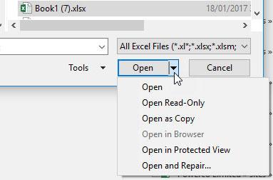 Reparera Corrupt Excel File Online