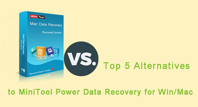 minitool power data recovery alternatives