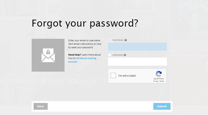 Myspace forgot Password email address submit