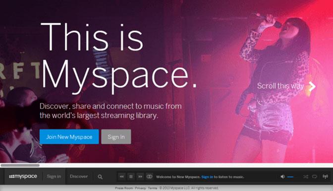 Myspace kezdőlap