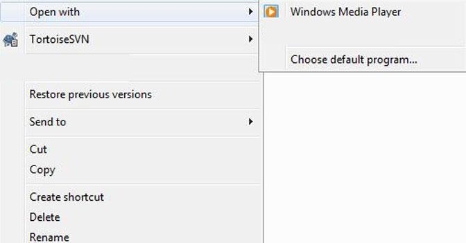 Öppna eller reparera skadade AVI-filer väljer standardprogram