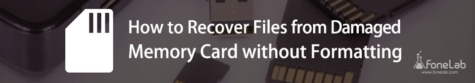 récupérer des fichiers de la carte mémoire endommagée