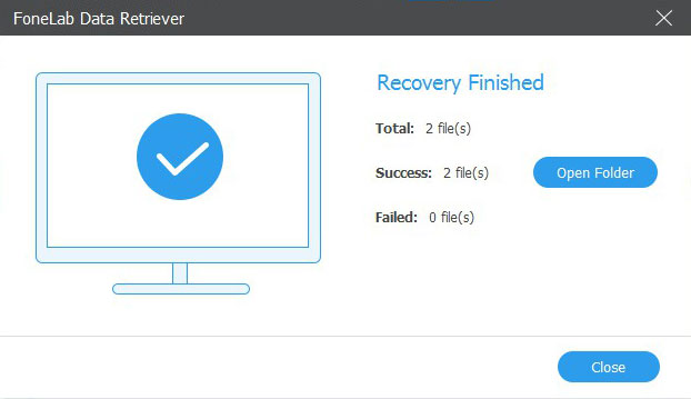 recover files on pc recover finished