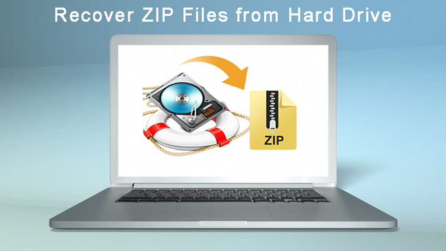 recover zip file from hard drive