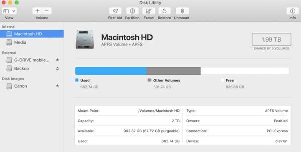 Führen Sie Festplatten-Dienstprogramme aus