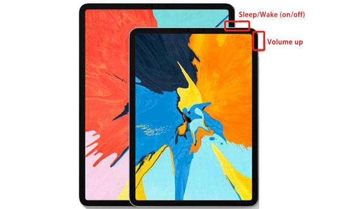 Tag et skærmbillede på iPad Pro