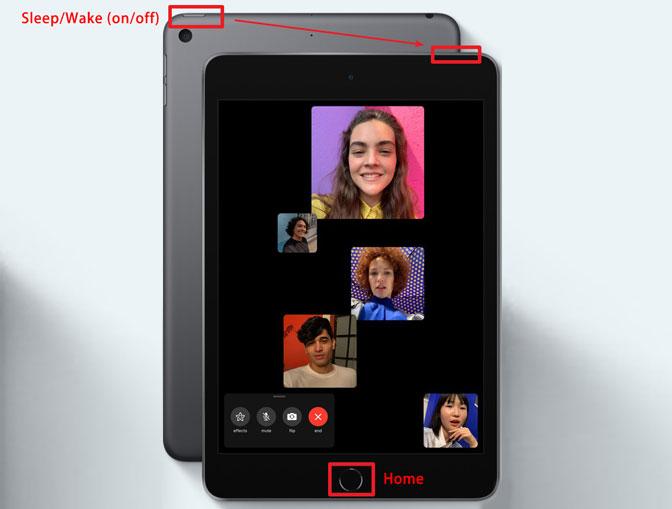 Tag et skærmbillede på iPad Mini / Air