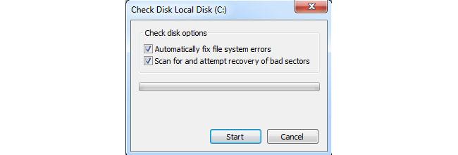 błąd pamięci flash systemu