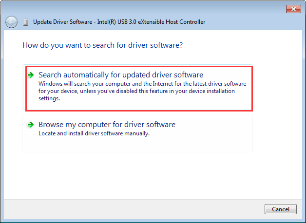 update drive software choose