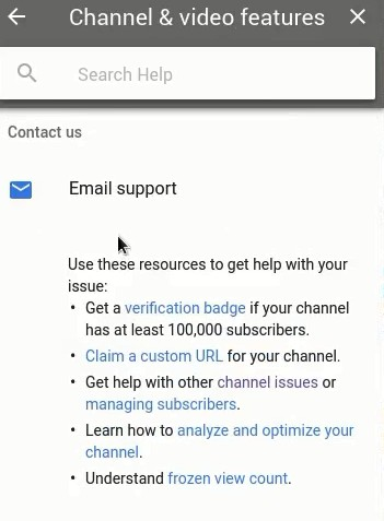 recover youtube videos youtube email support