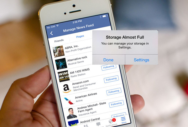 Tydligt iPhone-minne