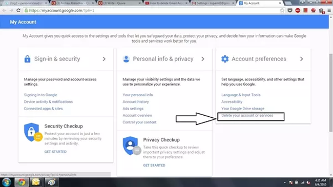 How to delete a gmail account or google account delete facebook messages on messenger ccuart Images