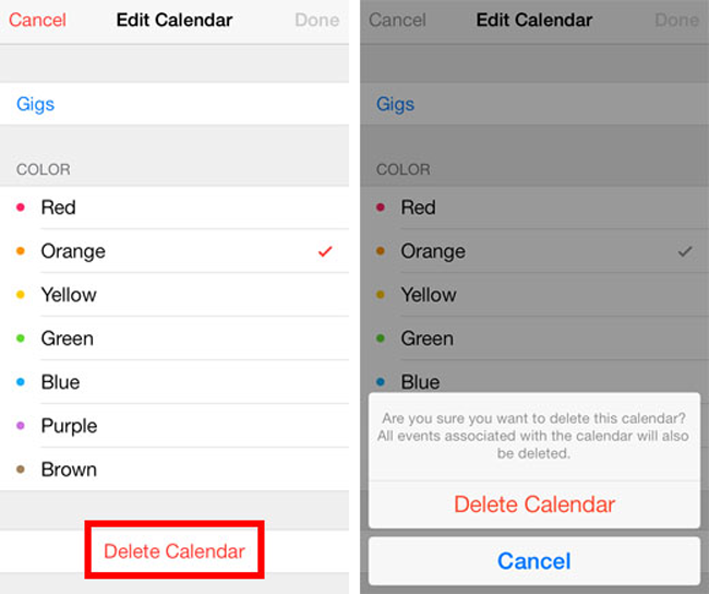 how to delete calendar on iphone how to create edit or delete a calendar event on iphone 18710