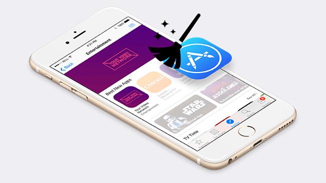 Az alkalmazáson belüli tartalom eltávolítása az iPhone-on
