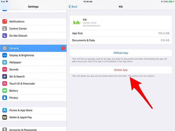 Remove Apps from Your iPad Pro/mini/Air or Earlier