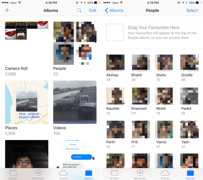 Supprimer l'album iPhone People en Photos