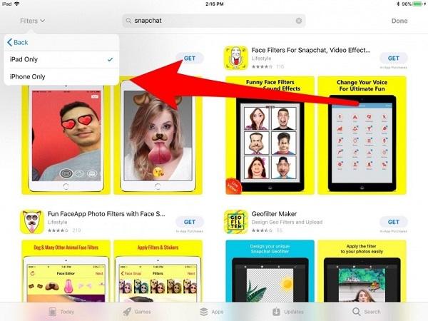 Laden Sie Snapchat im App Store herunter