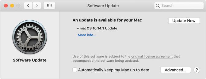 aktualizacja Mac OS