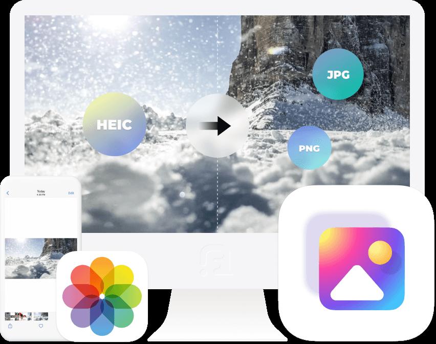 HEIC画像を変換する