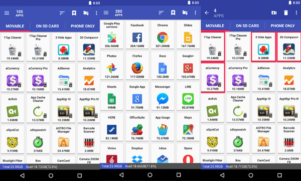 Move Apps to Samsung Galaxy SD Card via File Manager
