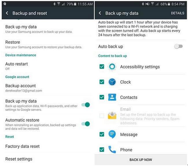android adatok mentése