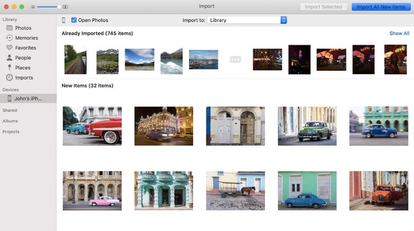 Transférer des photos d'un iPhone à un Mac via l'application Photos