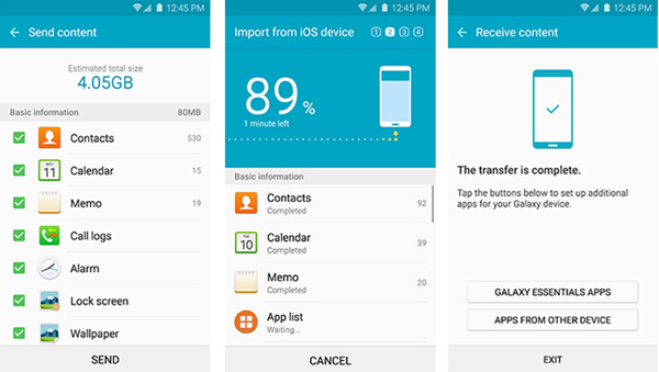 A Samsung Smart Switch vétele