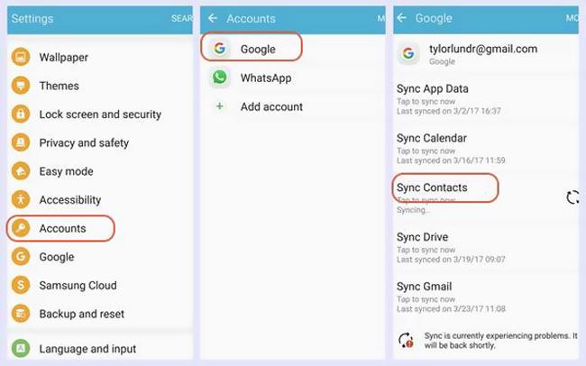 Android fájl átvitele a Google Fiókkal