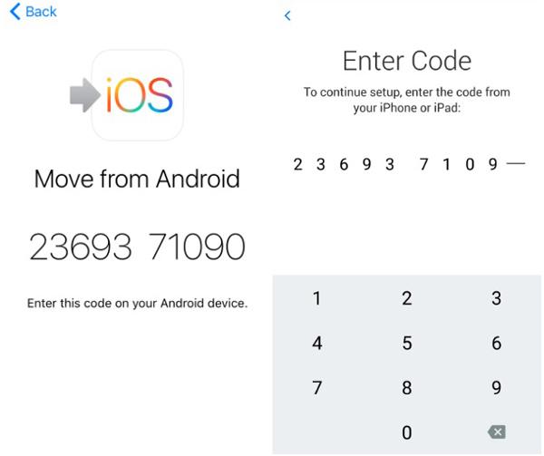 overfør fotos fra Android-telefon til iphone