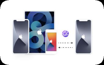 Overfør filer fra iOS til en annen