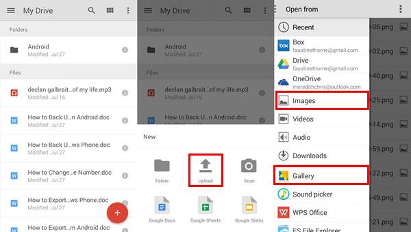 lg über google drive nach samsung übertragen