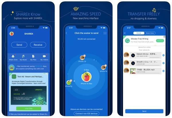 SHAREit ile iPhone'dan Android'e Müzik Gönder