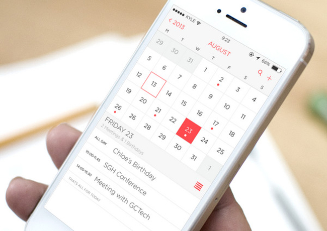 calendario di backup di iPhone