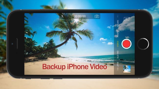 backup video iphone