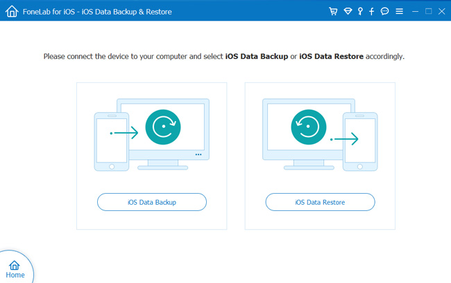 Välj IOS Data Backup