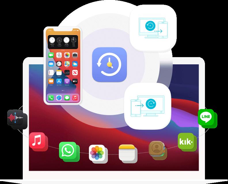 iOS Data Backup Gendan bannerbillede